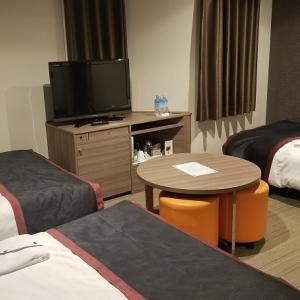 [四国・山陽旅行]尾道のホテルに到着です♪ご予約よりも広めのお部屋をご用意しました ですって!!
