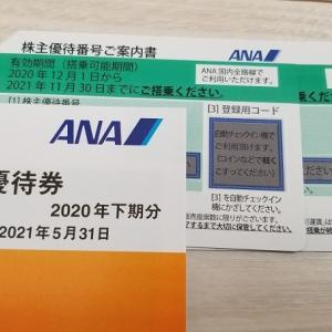 [ANA]株主優待が届きました♪優待の買取価格は低迷中・・・