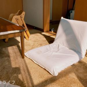 我が家のリビングにはソファーは無いが、座椅子と座布団ならある