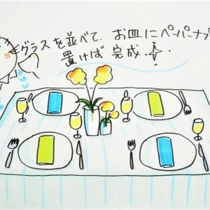 かんたんテーブルコーディネートレッスン☆トラ美先生⑪「シンプル器でコーディネート」