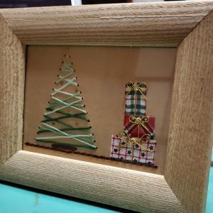 【minne】クリスマスカードの紙刺繍【クリスマスベア販売中】
