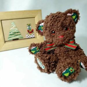 クリスマスベア、今日で最後にします【minneとTanoMakeでいろいろ販売中】