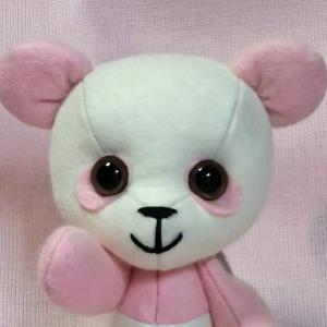【ハンドメイド】桜色のパンダちゃんもよろしくお願いします【minneで販売中】