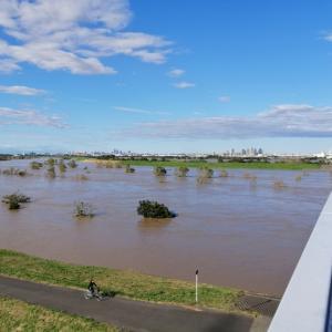 彩湖、台風の影響