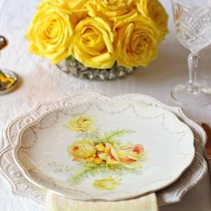 美しい飾り皿のメッセージ