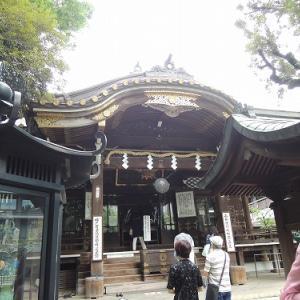 お金を洗います 豊川稲荷東京別院