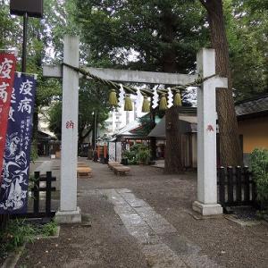 龍が鎮座する 田無神社