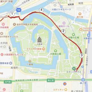 夜RUNは久しぶりの大阪城公園
