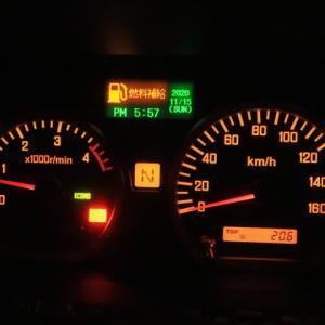 燃料の安いところもある、そこまで持たせたいと薄氷の思いでアクセルを踏む (2020/11/16)