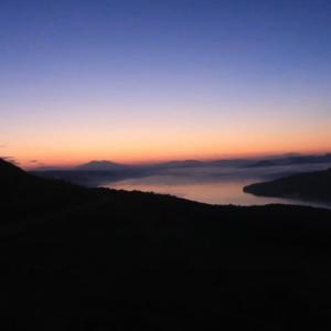 屈斜路湖の雲海は三分の一だが、満足感は70% (2021/8/29)