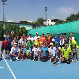 Japanese senior tennis game (Bangkok)