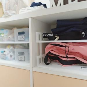 【子供部屋】ダイソーのジョイントA4トレー&ラックでお支度コーナー