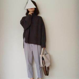 【楽天購入品】ハイネックニットとキレイ色パンツでワーママコーデ