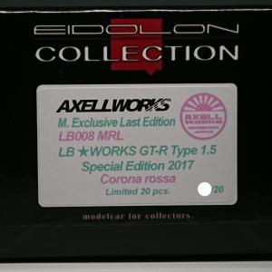 「拘りのアズーロ」の兄弟!AXELLWORKS×M.Exclusive Last Edition【LB008 MRL】EIDOLON 1/43 LB★WORKS GT-R Type1.5 Special Edition 2017 Corona Rossa Limited 20 pcs.