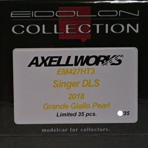 3台だったんですね!-AXELLWORKS Bespoke Models- EIDOLON 1/43 Singer DLS 2018 Grande Giallo Pearl Limited 35 pcs.