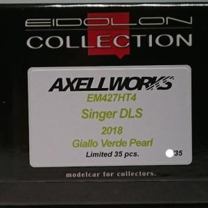 ポップなDLS?-AXELLWORKS Bespoke Models- EIDOLON 1/43 Singer DLS 2018 Giallo Verde Pearl Limited 35 pcs.