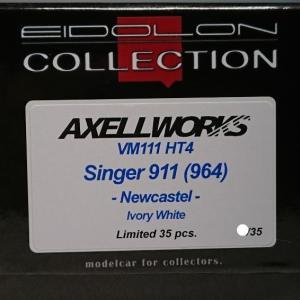 MyStarカラーで無いAXELLWORKS特注モデル!-AXELLWORKS Bespoke Models- Vision 1/43 Singer 911(964) -Newcastel- Ivory White Limited 35 pcs.