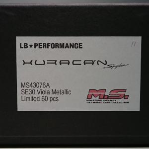お久です!M.S 1/43 LB★PERFORMANCE Huracan Spyder SE30 Viola Metallic Limited 60 pcs.
