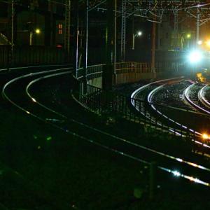 夜間線路修繕工事から早朝撮り