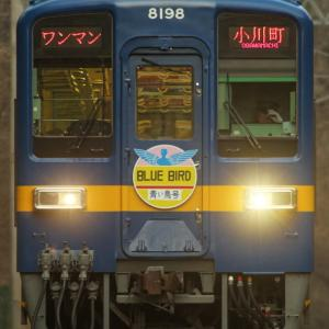 東上線の四季を行く青い奴8198F