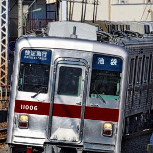 古豪11006F全般検査明け「快速急行」の写真