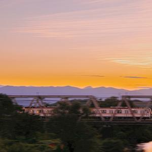 日没後の夕焼がとてもきれいな越辺川と77S17002F