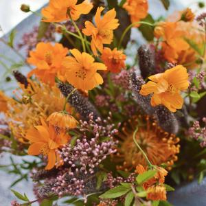 キバナコスモスの花束 秋色の花