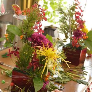 お正月アレンジ!新年を生花で華やかにひらく準備をしましょう