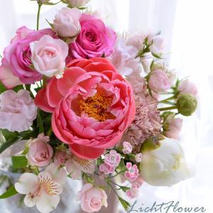 【教室の案内】シャクヤクの花束・アレンジレッスン