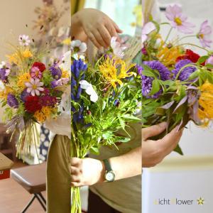お花教室は秋色模様