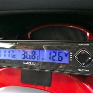 ★便利グッズ 「温湿計&電圧チェッカー」→温度は室内外を計測、バッテリートラブル防止にも!