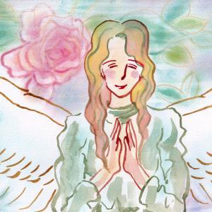 【完成】微笑む天使~ここにいるわ~ver,3*水彩&パステル混合技法