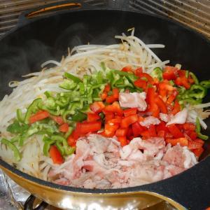 節約 モヤシで肉野菜炒め