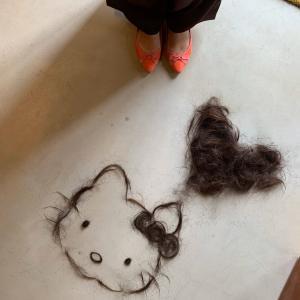 髪に愛を感じる。私のキティちゃん、ありがとう♪