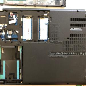 lenovoのノートパソコンThinkPadのEge E460でメモリの増設とSSD換装