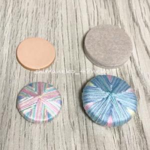 ダイソーのキズガードを使い、糸ボタン擬きを制作!
