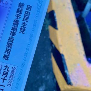 自民党総裁予備選挙に投票