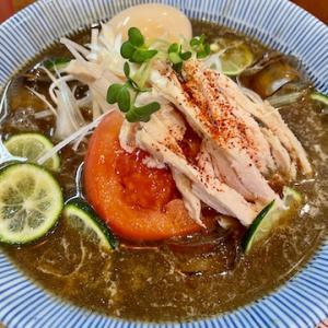 味噌中華そばムタヒロにて、神山すだちの冷やし煮干そば 味玉トッピングを食す