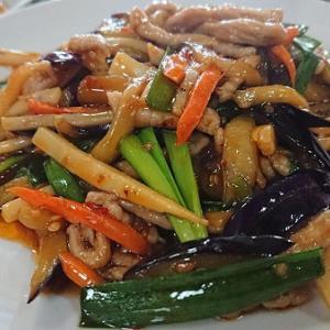我が家のスタミナ料理 上町北京飯店 細切り豚肉・野菜の辛酢炒め
