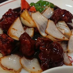 梅江飯店 黒酢酢豚定食
