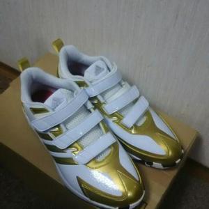 金色靴は無理でした