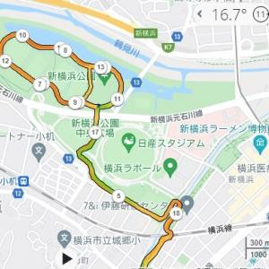 振り返りの前に新横浜公園20km
