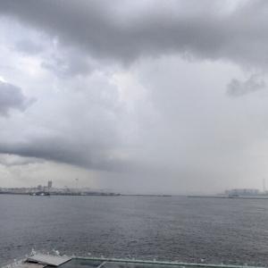 激しい雷雨に足止めRUN
