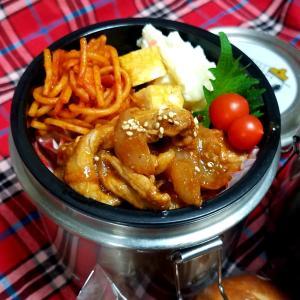生姜焼きのお弁当  仕事は好き