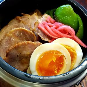 昭和の男と平成の男   煮豚弁当