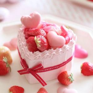 恋愛運アップ、ハートのストロベリーショートケーキの待ち受け & 先天性異常が結んだ運命の赤い糸伝説