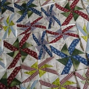 一つのパターンで作るキルト パターンができた