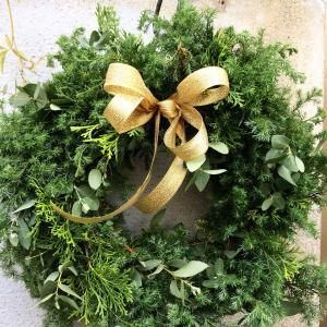 エバーグリーンのクリスマスリース1dayレッスンのご案内「フラワーアレンジメント教室姫路