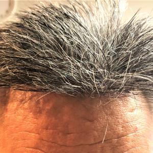 濡れた髪の印象