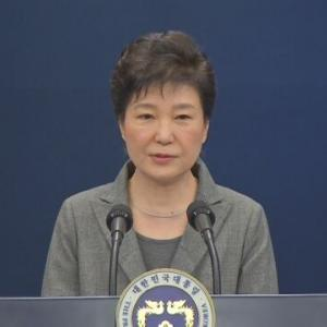 【国際】韓国 パク大統領 任期満了待たずに辞任する意向表明